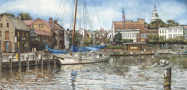 Annapolis City Dock by Nick Santoleri
