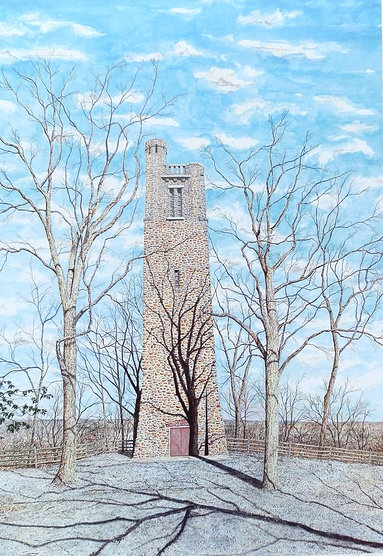Bowmans Tower offset print by James Redding