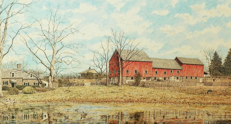 Crystal Springs Farm offset print by James Redding