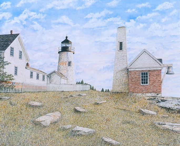 Pemaquid Point Light offset print by James Redding