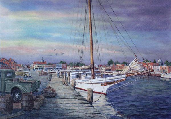 Skipjack at Annapolis by William Dawson