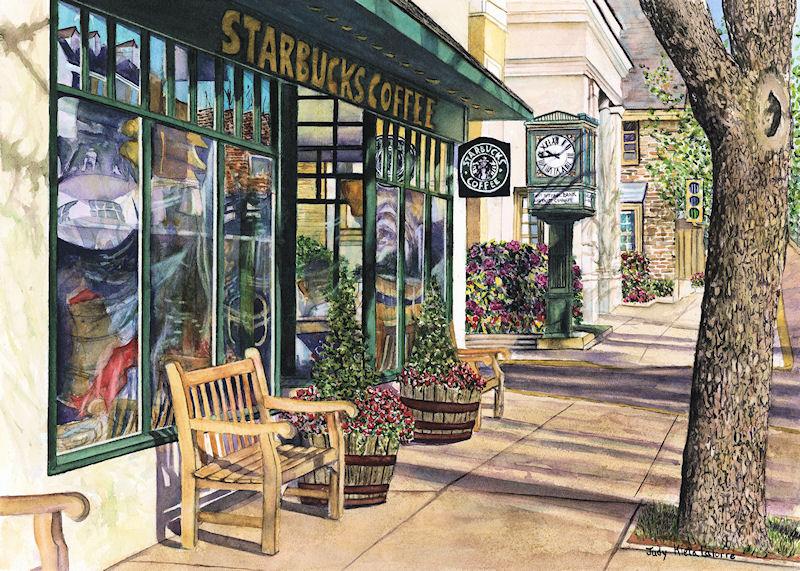 Starbucks Newtown by Judy Kieta LaTorre