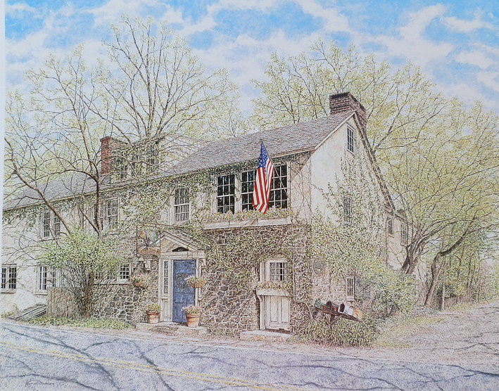 The Inn at Phillips Mill offset print by James Redding
