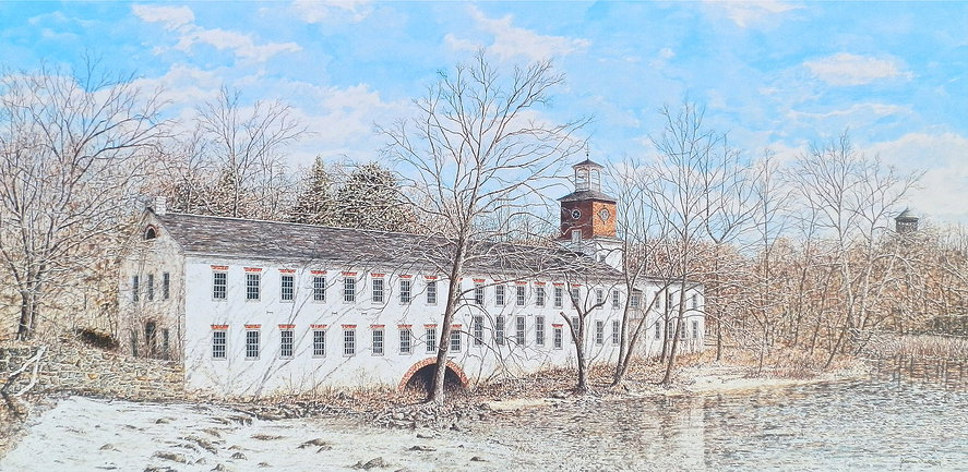 Walkers Mill offset print by James Redding