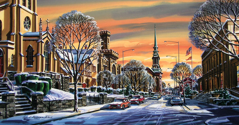 Winter on Airy Street Giclee by William Ressler