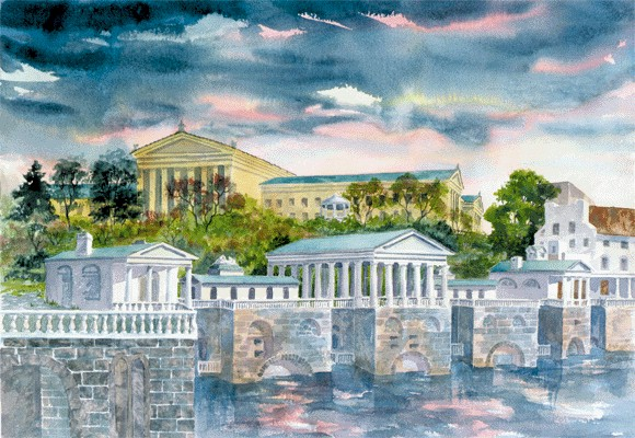 Philadelphia Waterworks by Linda McNeil