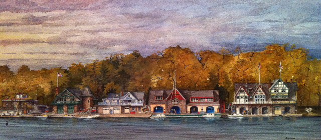 "Boathouse Row ""Autumn"" by Moss Adams"