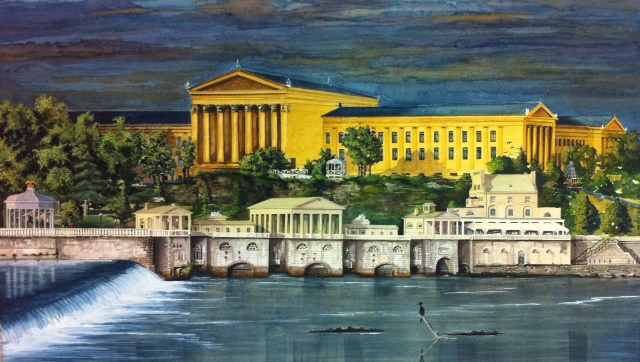 Philadelphia Art Museum (Last Light At The Waterworks) by Moss Adams